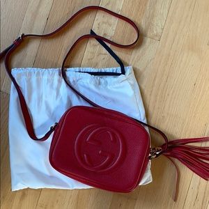 NEW Gucci red disco crossbody bag
